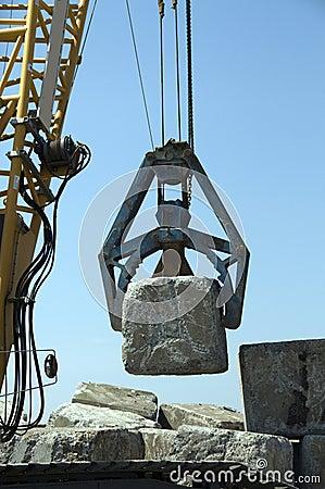 Free Crane With Rocks Royalty Free Stock Photo - 14866095