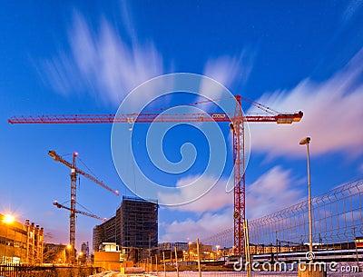 Cranes Editorial Image