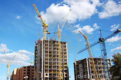 Cranes and building construction