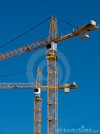 Free Cranes Building Two Stock Images - 13177844