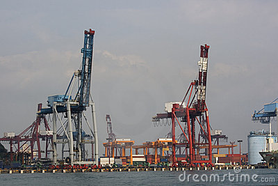 Cranes at the Docks