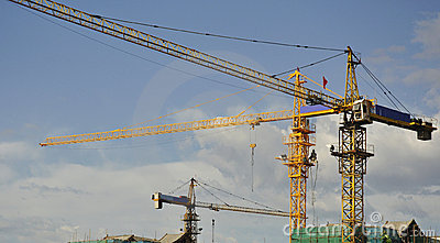 Cranes on site
