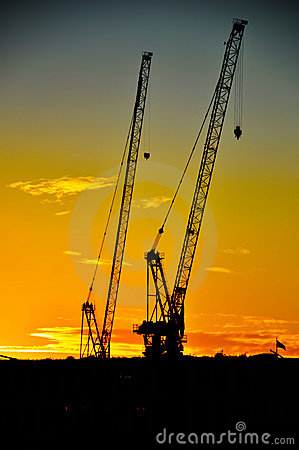 Cranes on The Thames