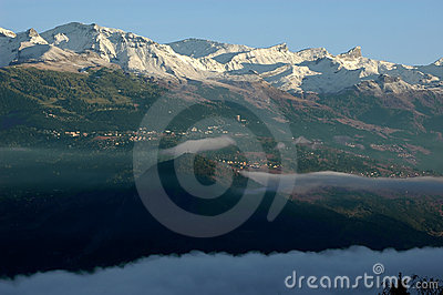 Crans montana with the first snow