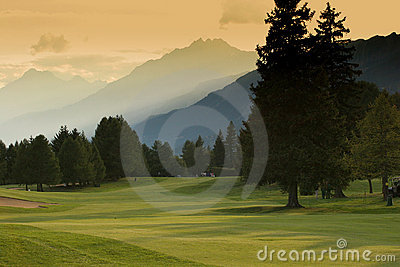 Crans-montana golf course