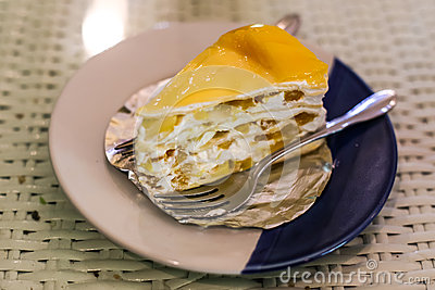 Crape cake sweet with mango