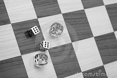 Craps, Dices on Chess Board