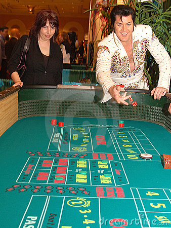 Craps With Elvis 6 Editorial Stock Photo