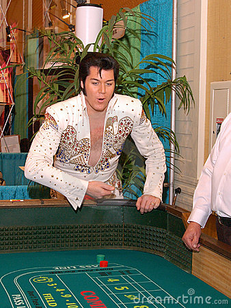 Craps With Elvis Editorial Photo