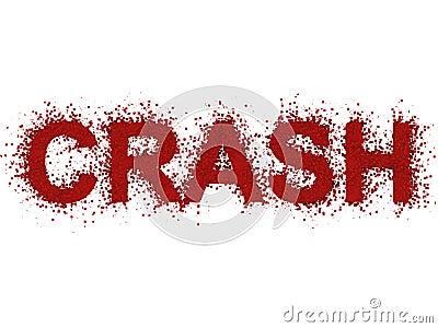 Crash exploding