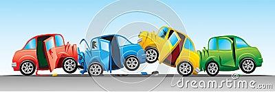 Crash involving four cars