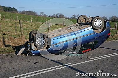 crashed car upside down royalty free stock photo image 8152225. Black Bedroom Furniture Sets. Home Design Ideas