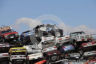 Crashed cars I Editorial Photo