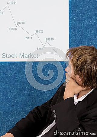 Crashing stock market