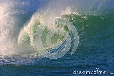 Crashing Surf Wave Stock Photo