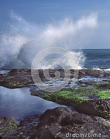 Crashing Wave Bali Indonesia