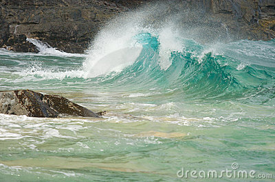 Crashing Waves on the Na Pali Shoreline