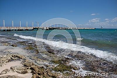 Crashing Waves near the Pier