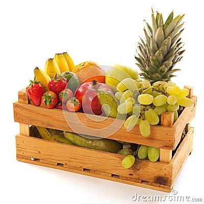 Crate fresh fruit