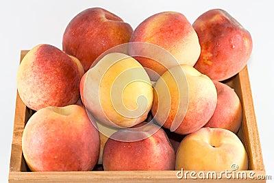 Crate of peaches.