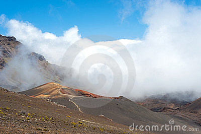Crater on Haleakala on Maui, Hawaii