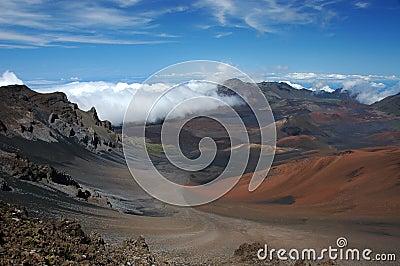 The crater of Haleakala volcano.