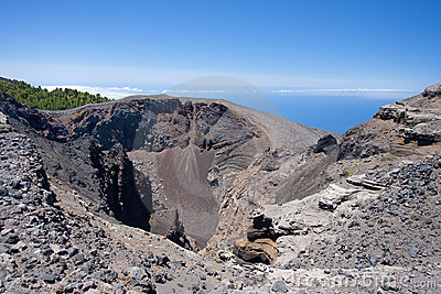 Crater of Hoya Negro, volcano at La Palma, Spain.