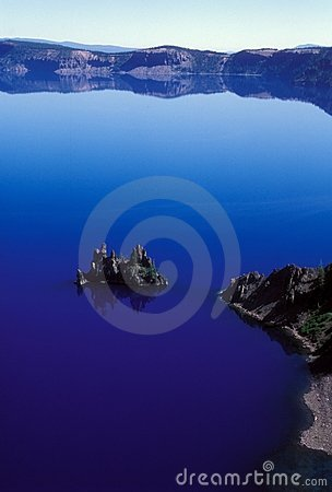 Crater Lake Blue Reflections