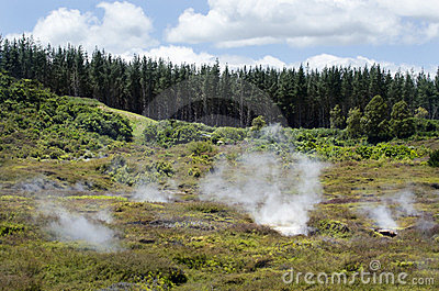 Craters of the Moon, Lake Taupo, New Zealand