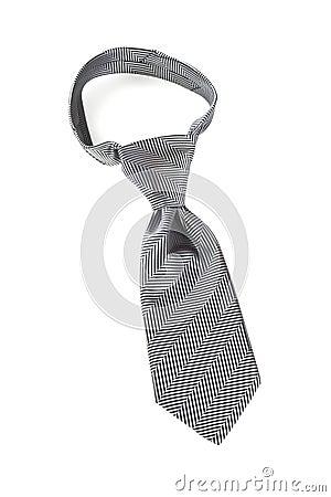Cravate grise avec le noeud de Windsor