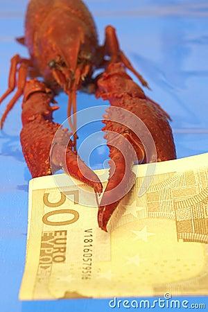 Free Crawfish And Euro Stock Image - 377391