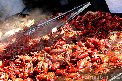 Crawfish at Seafood Festival