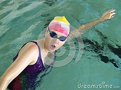 Crawl swimmer