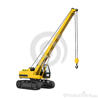 Free Crawler Crane Isolated Royalty Free Stock Images - 88086219