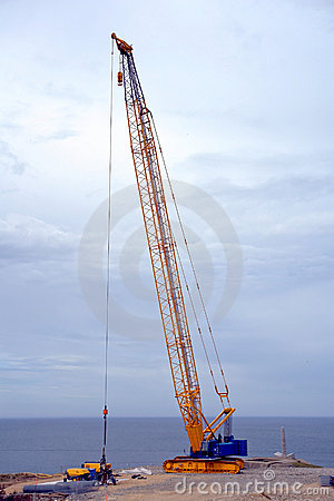 Free Crawler Derrick Crane On Construction Work Site Stock Photo - 13818910