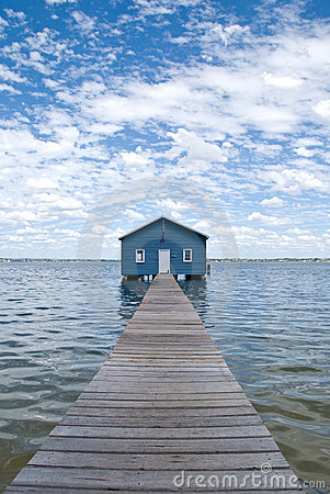 Free Crawley Edge Boatshed Aka. Matilda Bay Boatshed Royalty Free Stock Images - 4297979