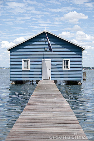 Free Crawley Edge Boatshed Aka. Matilda Bay Boatshed Royalty Free Stock Images - 4298029