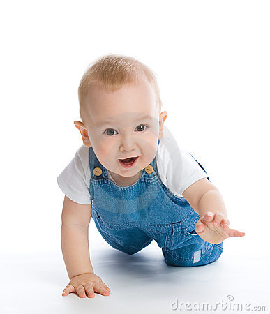 Baby Photo on Crawling Baby Boy Royalty Free Stock Photo   Image  12606085