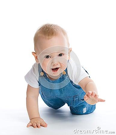 Free Crawling Baby Boy Royalty Free Stock Photo - 12606085