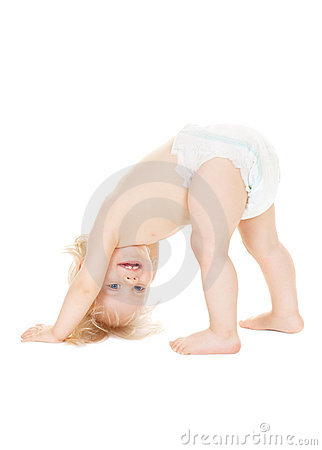 Free Crawling Baby Girl Royalty Free Stock Photo - 21737085