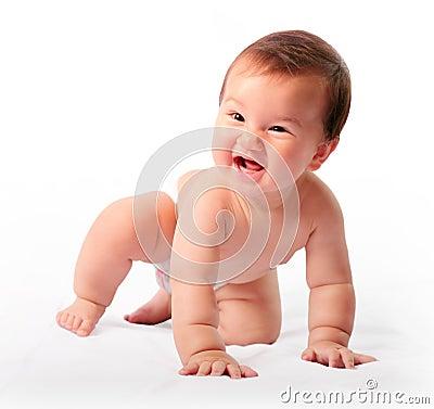 Free Crawling Boy Stock Photography - 93734032