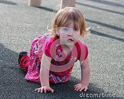 Crawling Little Girl