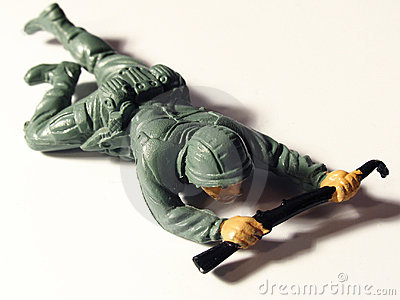 Crawling toy soldier