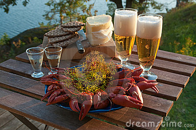 Crayfish Party Royalty Free Stock Image - Image: 10716006