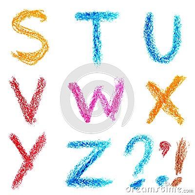 Crayon alphabet, Lettrs S - Z