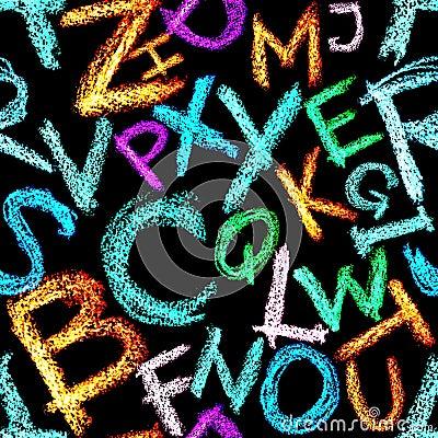 Crayon alphabet seamless
