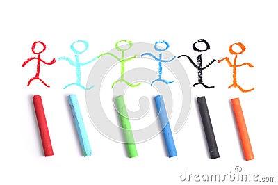 Crayon art team