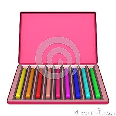 Crayon Box on White
