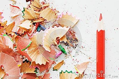 copeaux colors de crayon photographie stock libre de droits image 11386957 - Copeaux De Bois Colors
