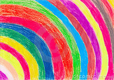 Crayon Drawing by a Child